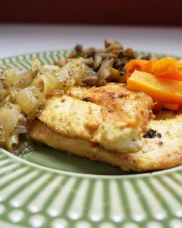 Pratos fitness – Frango com cebolas caramelizadas