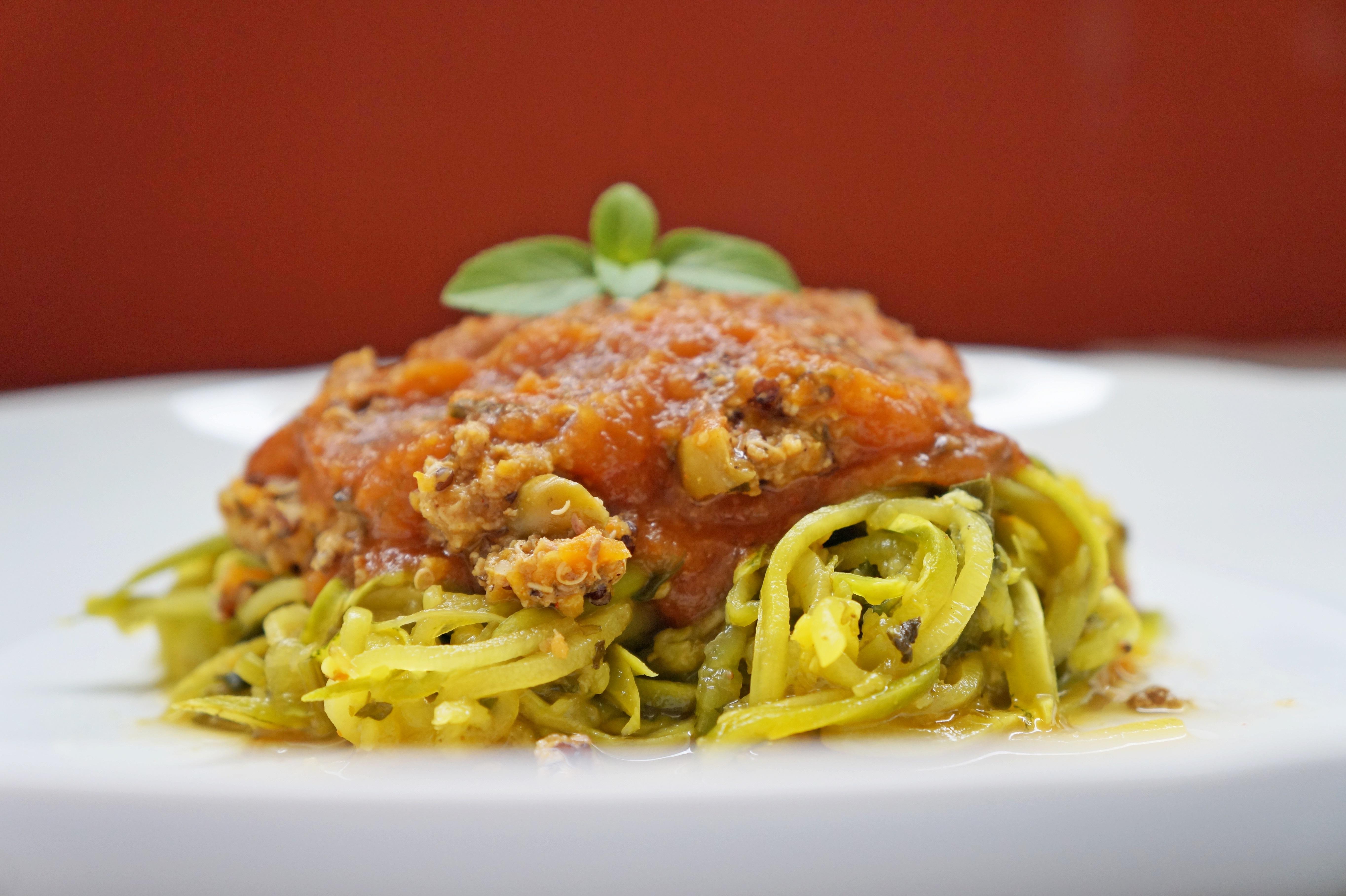 Espaguete de Abobrinha com Carne Moída