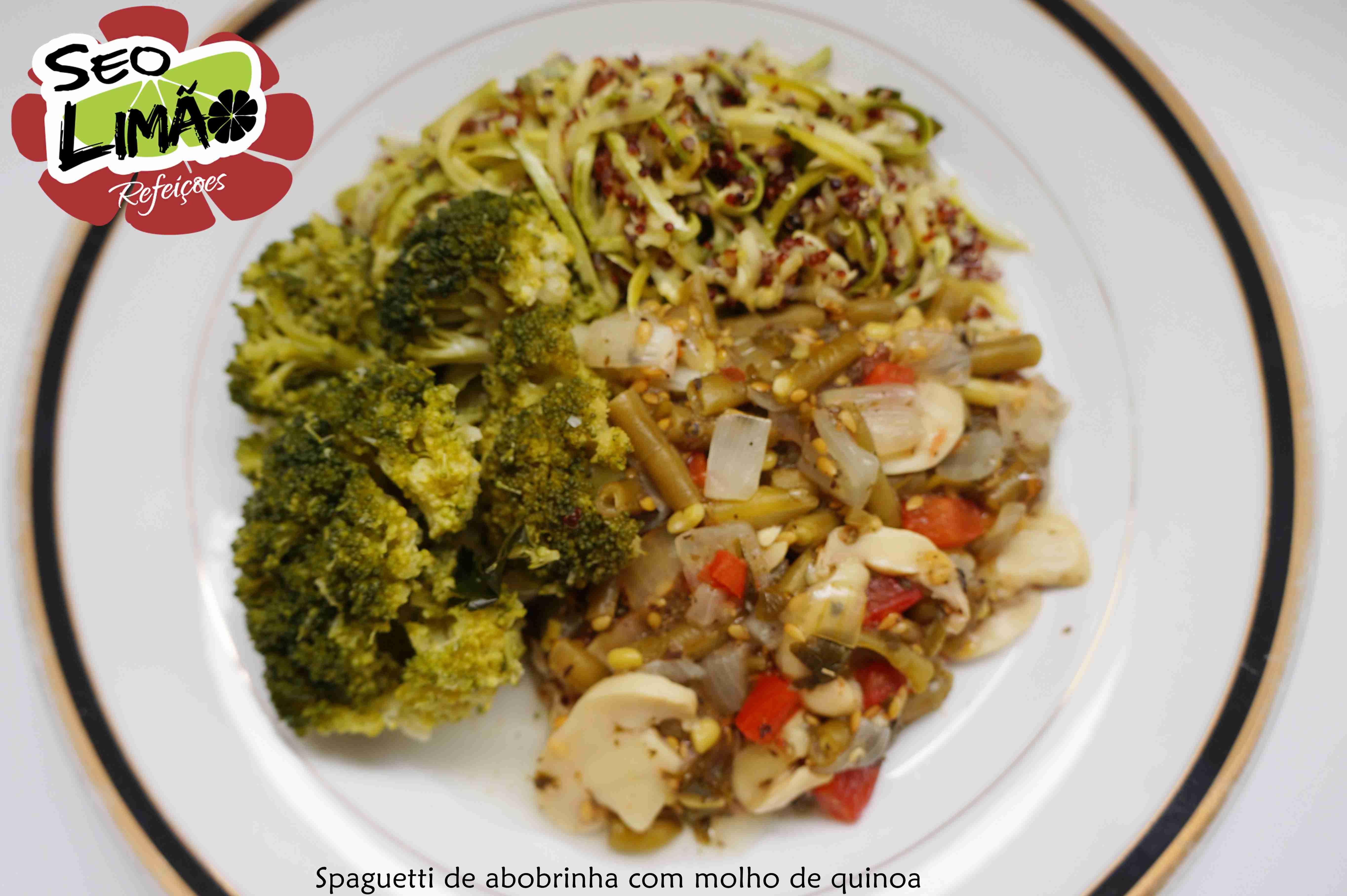 Espaguete de Abobrinha com Quinoa